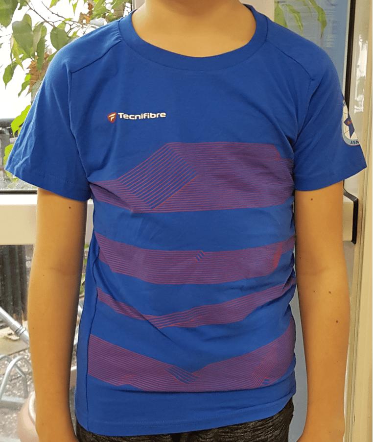 Image of T-shirt Tecnifibre bleu électrique enfant