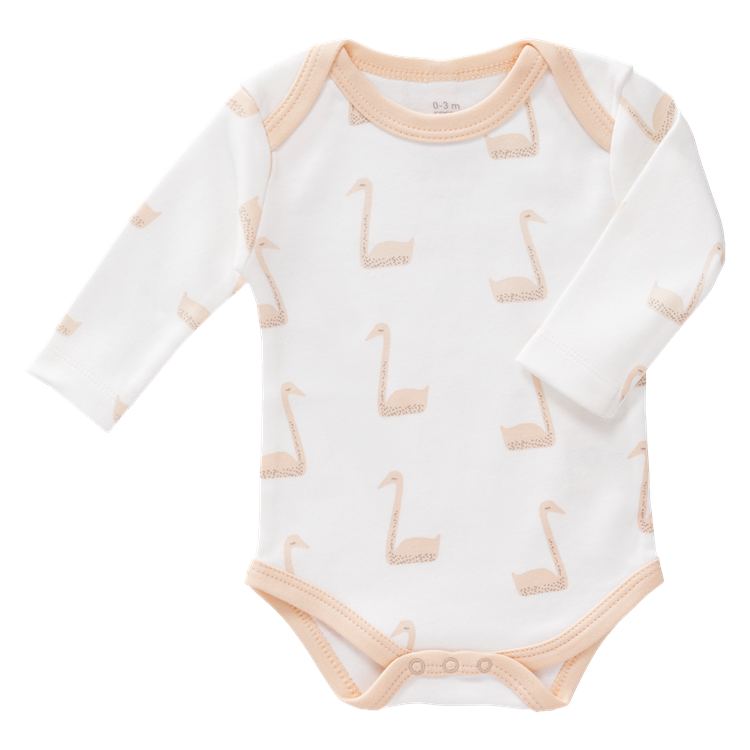 Image of Peach Swan Organic Long Sleeve Body