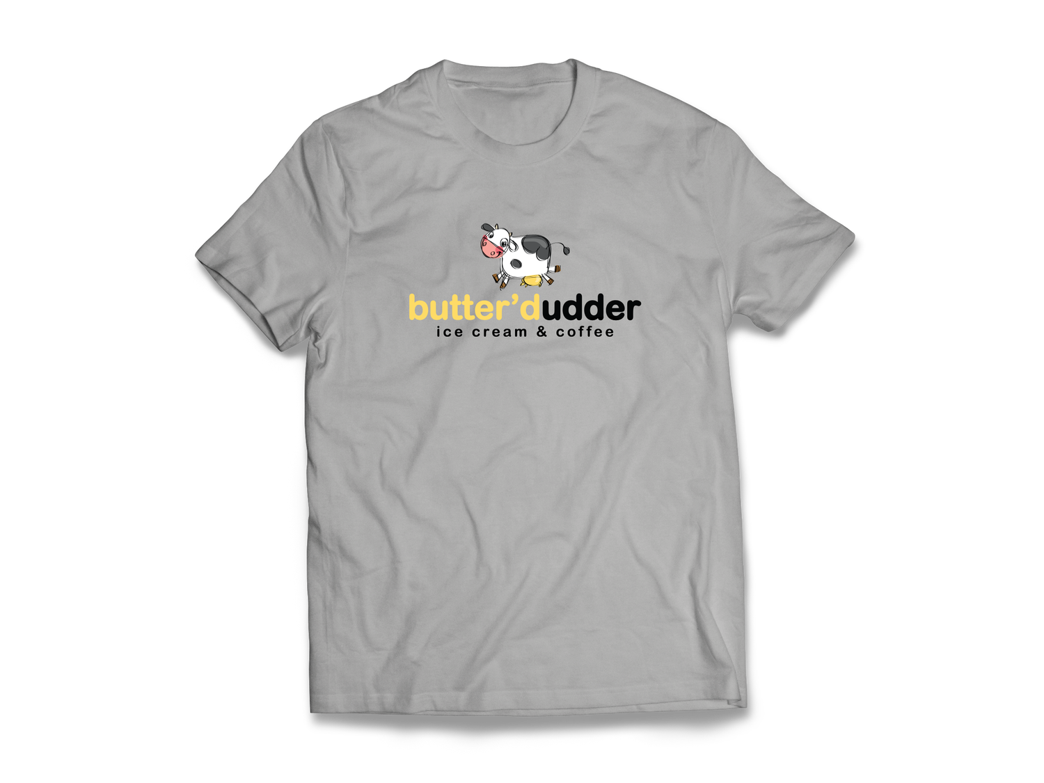 Image of Butter'd Udder T-Shirt (Gray)