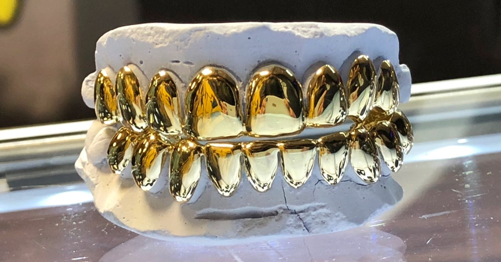 Image of PERMANENT STYLE GOLD GRILLZ - SOLD PER TOOTH