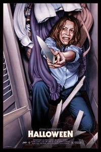 "Image of ""Halloween: Laurie Strode (variant)""- 24"" x 36""  limited edition screen print"