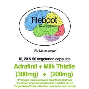 Image of ADRAFINIL(300MG) + MILK THISTLE(200MG) CAPSULES