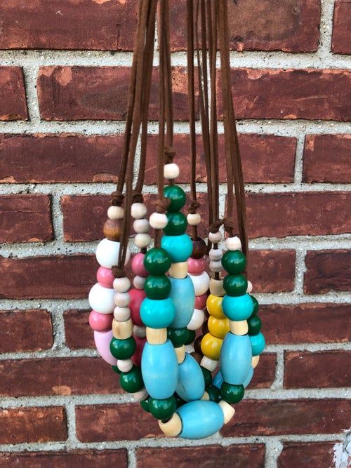 Image of Wooden Beaded Necklace (grab bag)