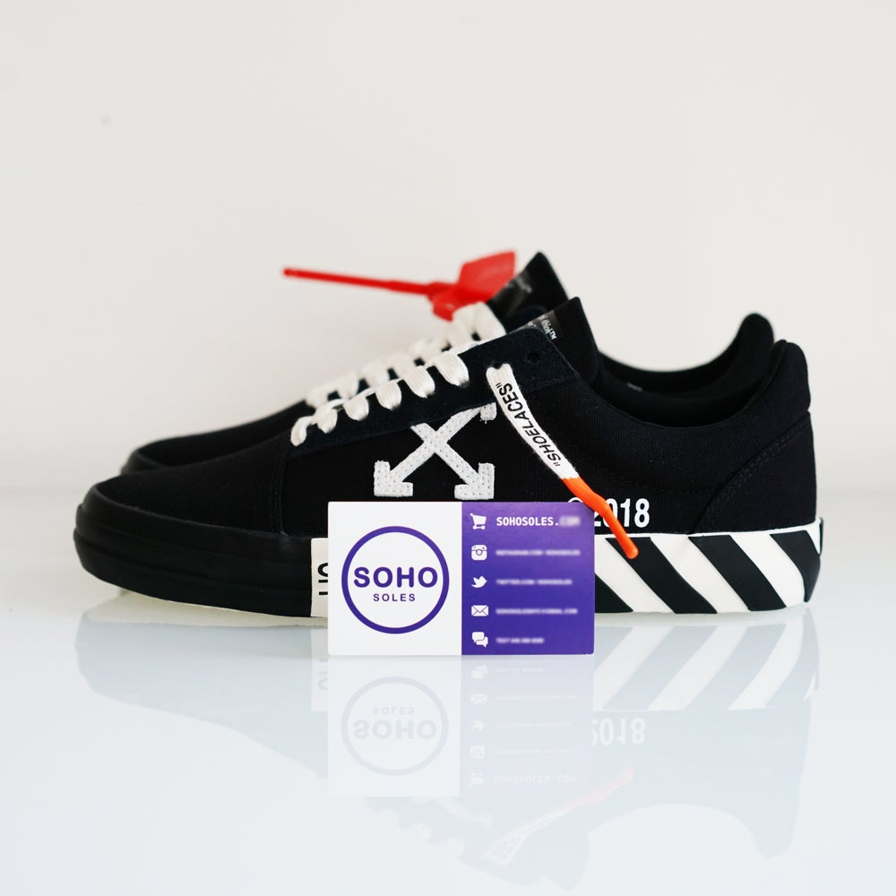 0058d2b3 Off-White Vulc Low Top Black OMIA085R19800016 1000 - Size 6.5 7.5 ...
