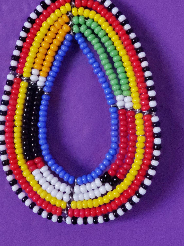 Image of Nakesa Multicolor Beaded Hoop Earrings