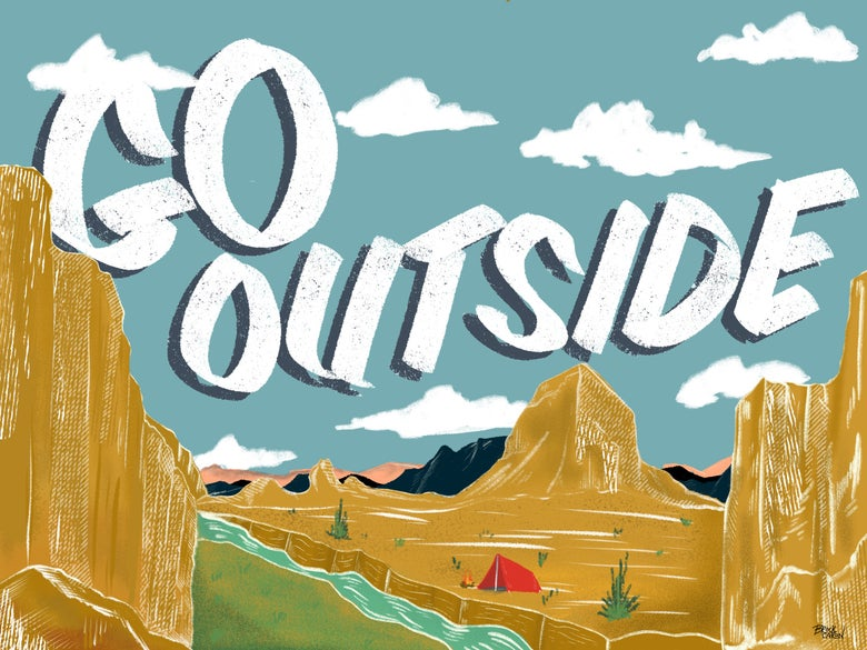 "Image of ""Go Outside"" Fine Art Print"