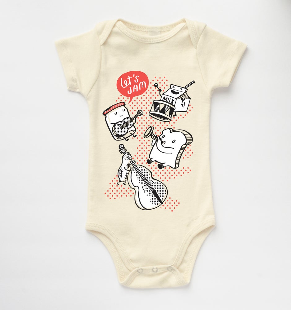 Image of LET'S JAM babies' bodysuit