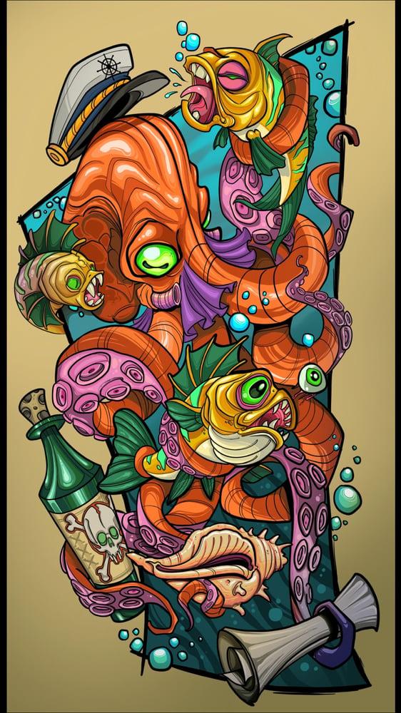 Image of Tony Ciavarro & Robert Kane Octopus collab print