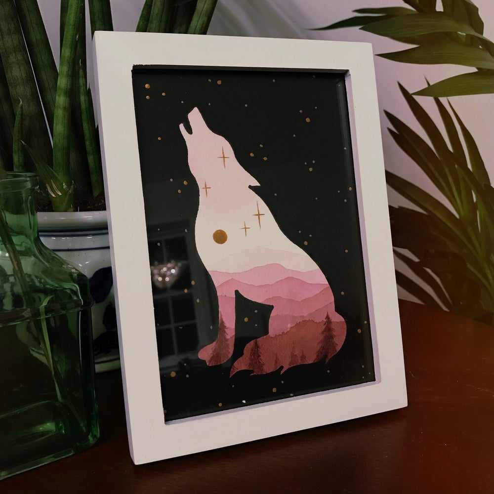 Image of Wolf - Original Painting