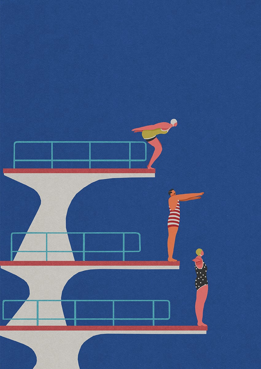 """Image of A2 """"DIVE"""" Giclee Print"""