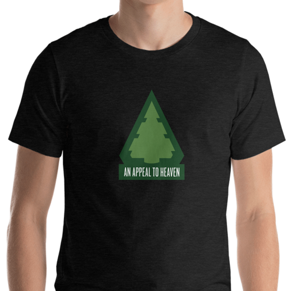 Image of  AN APPEAL TO HEAVEN T-SHIRT - BLACK // GREEN