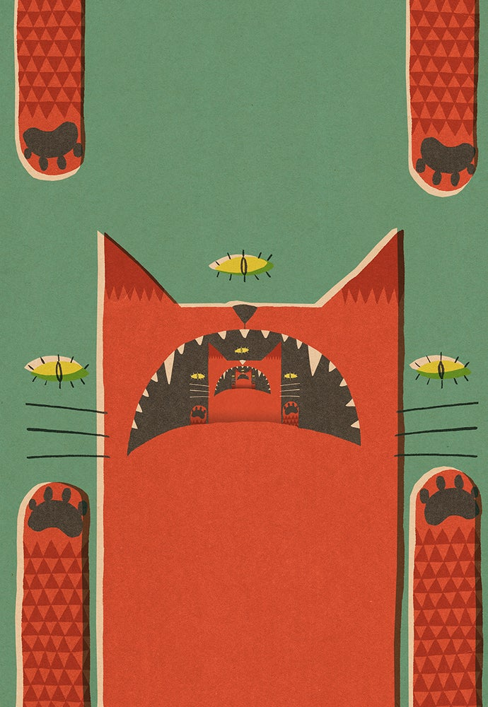 """Image of A2 """"INFINITE CAT"""" Giclee Print"""