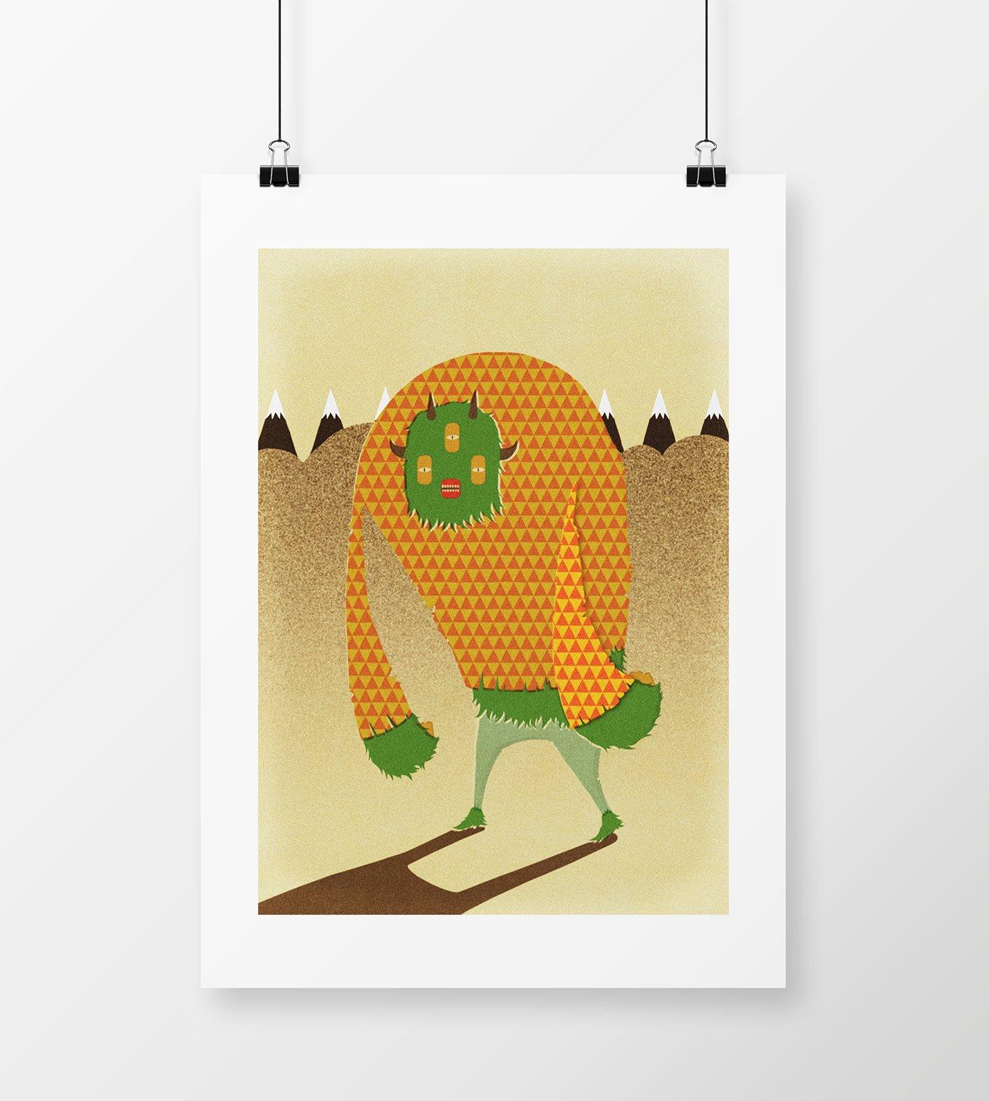 "Image of A2 "" YETI"" Giclee Print"