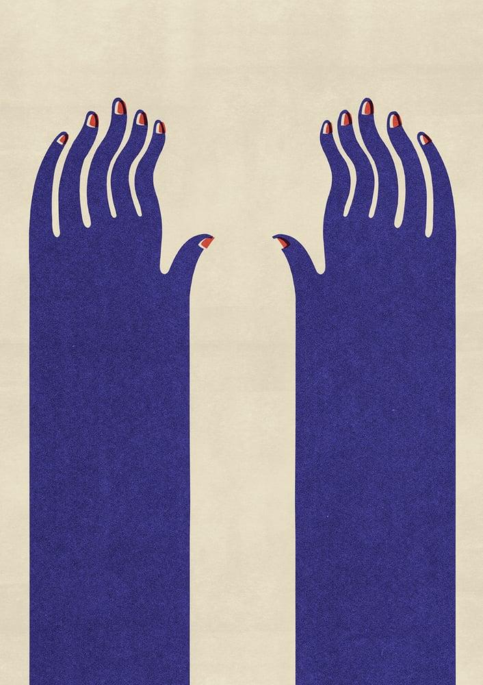 "Image of A2 ""SPIRITUAL FINGERS"" Giclee Print"