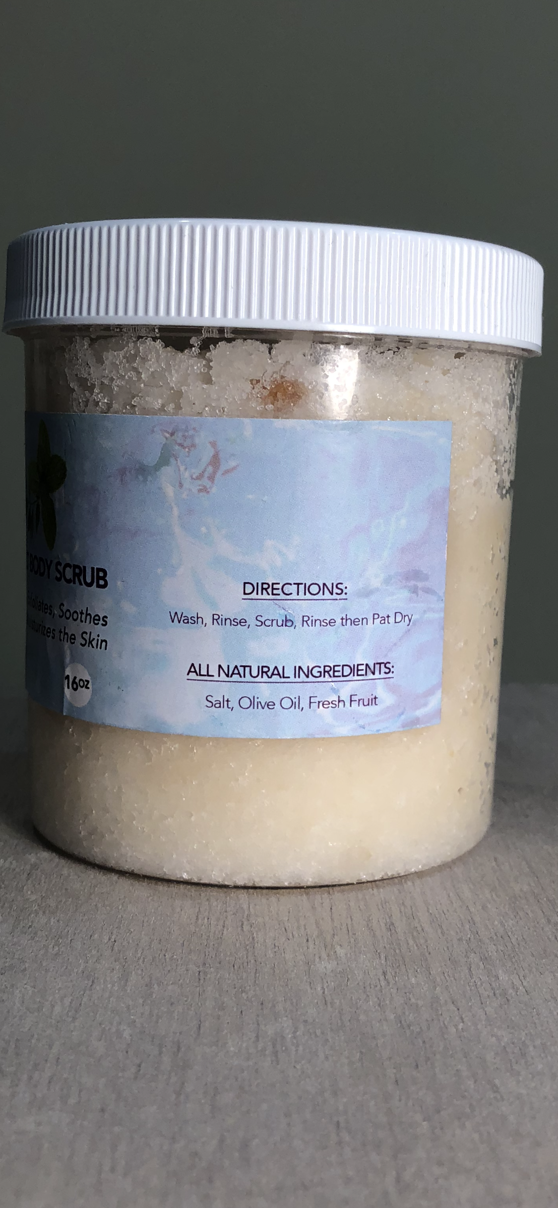 Image of Julia Salt Body Scrub The Mother Nature Collection