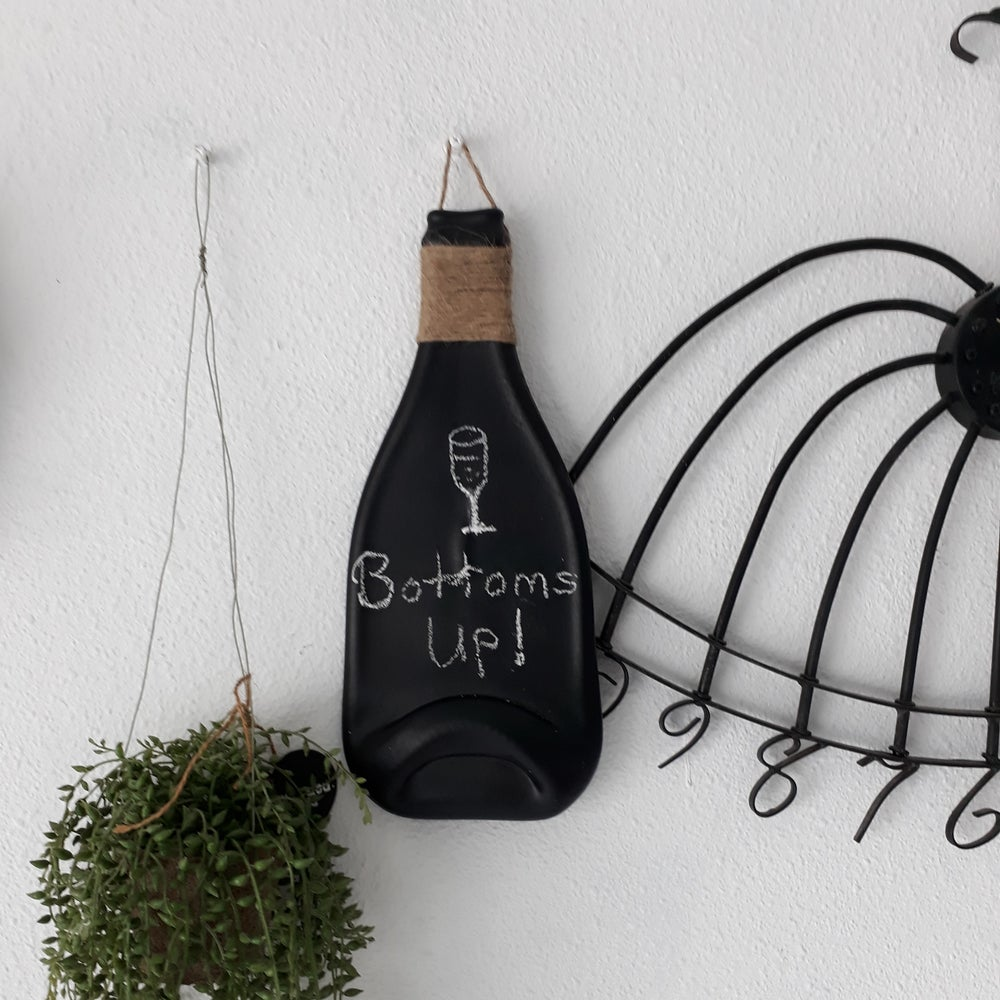 Image of Slumped Bottle Chalkboard