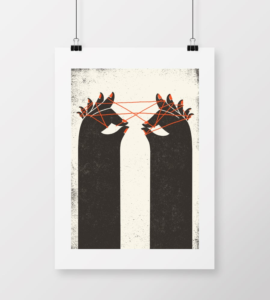 """Image of A2 """"STRING"""" Giclee Print"""