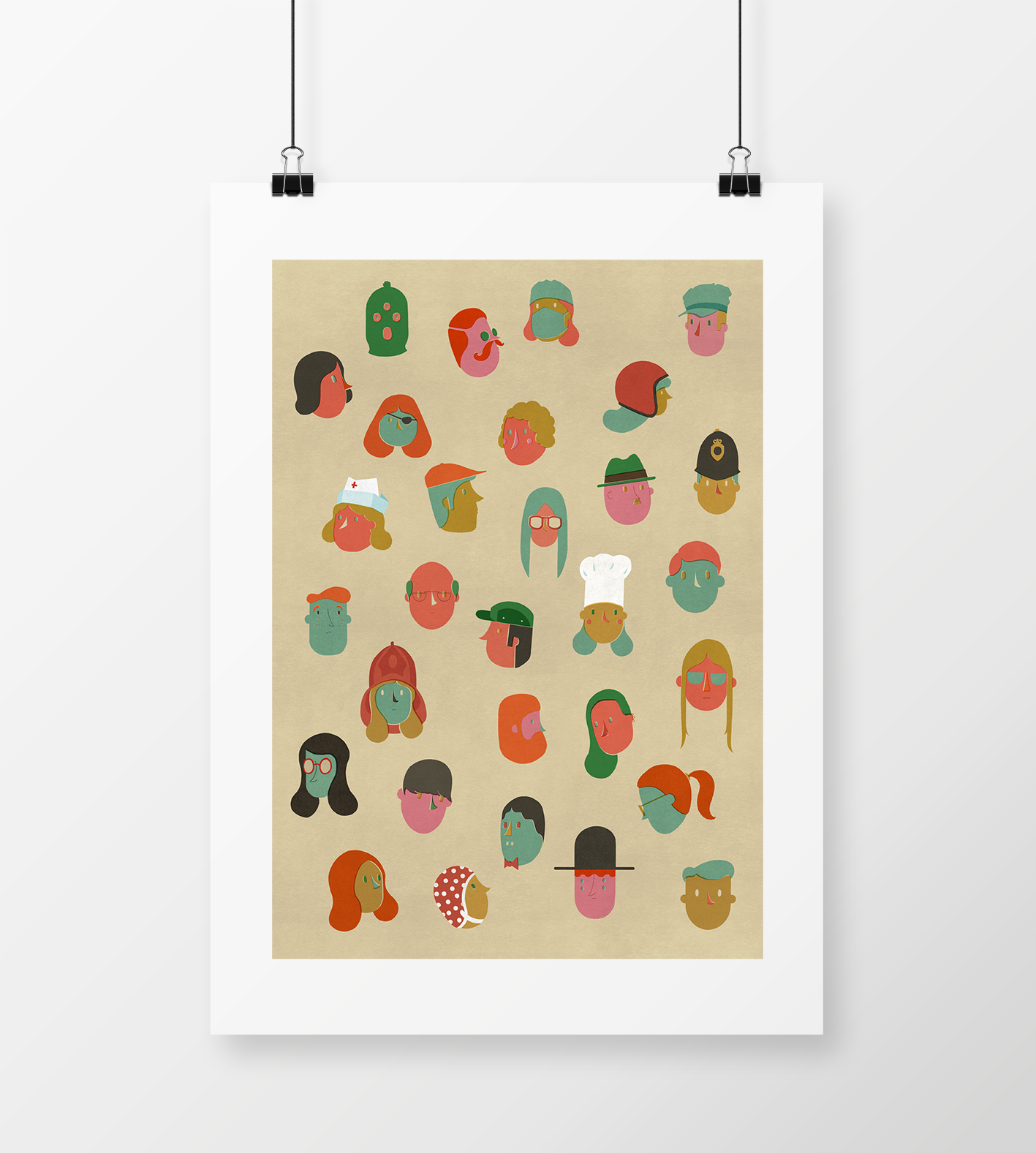 """Image of A2 """"COMMON PEOPLE"""" Giclee Print"""
