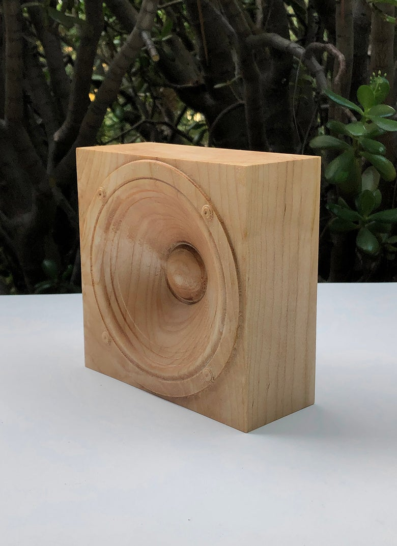 Image of Wooden speaker sculpture, maple