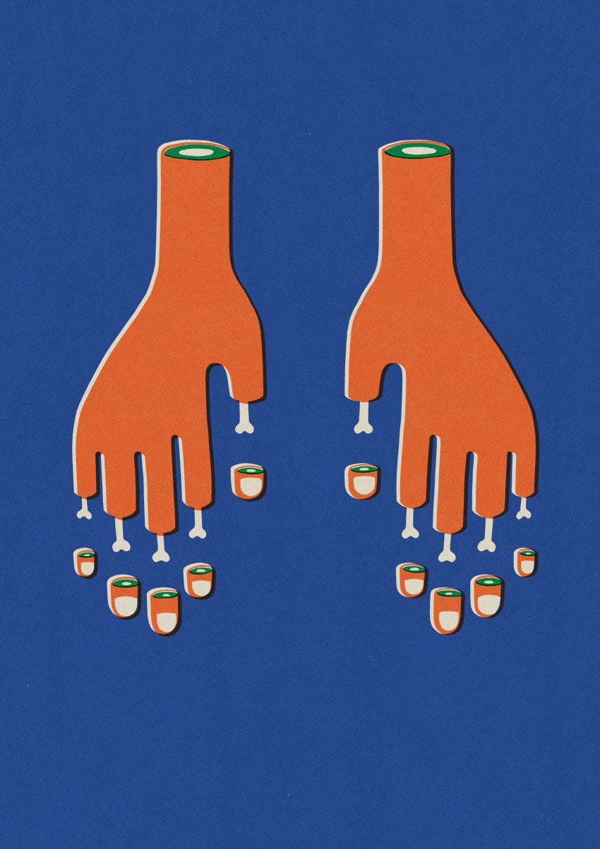 """Image of A2 """"CUT FINGERS"""" Giclee Print"""
