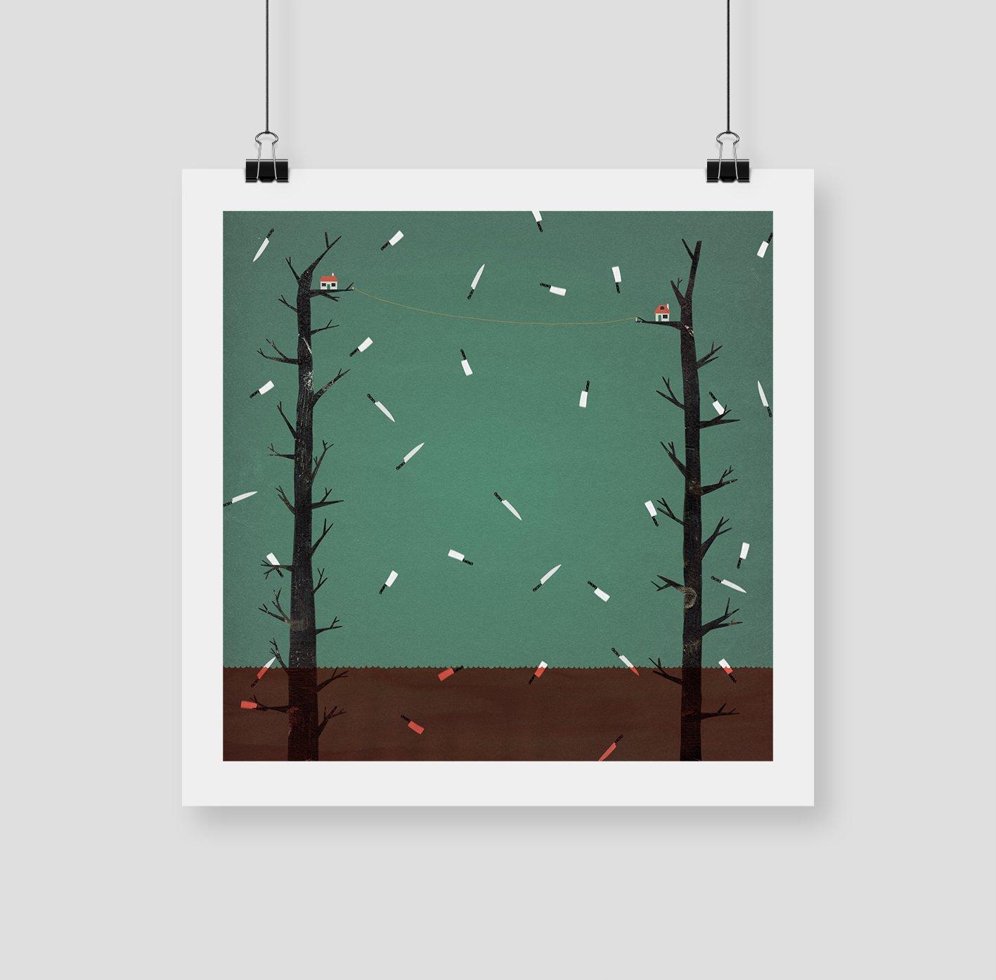 "Image of 420x420 ""NEIGHBOURS"" Giclee Print"