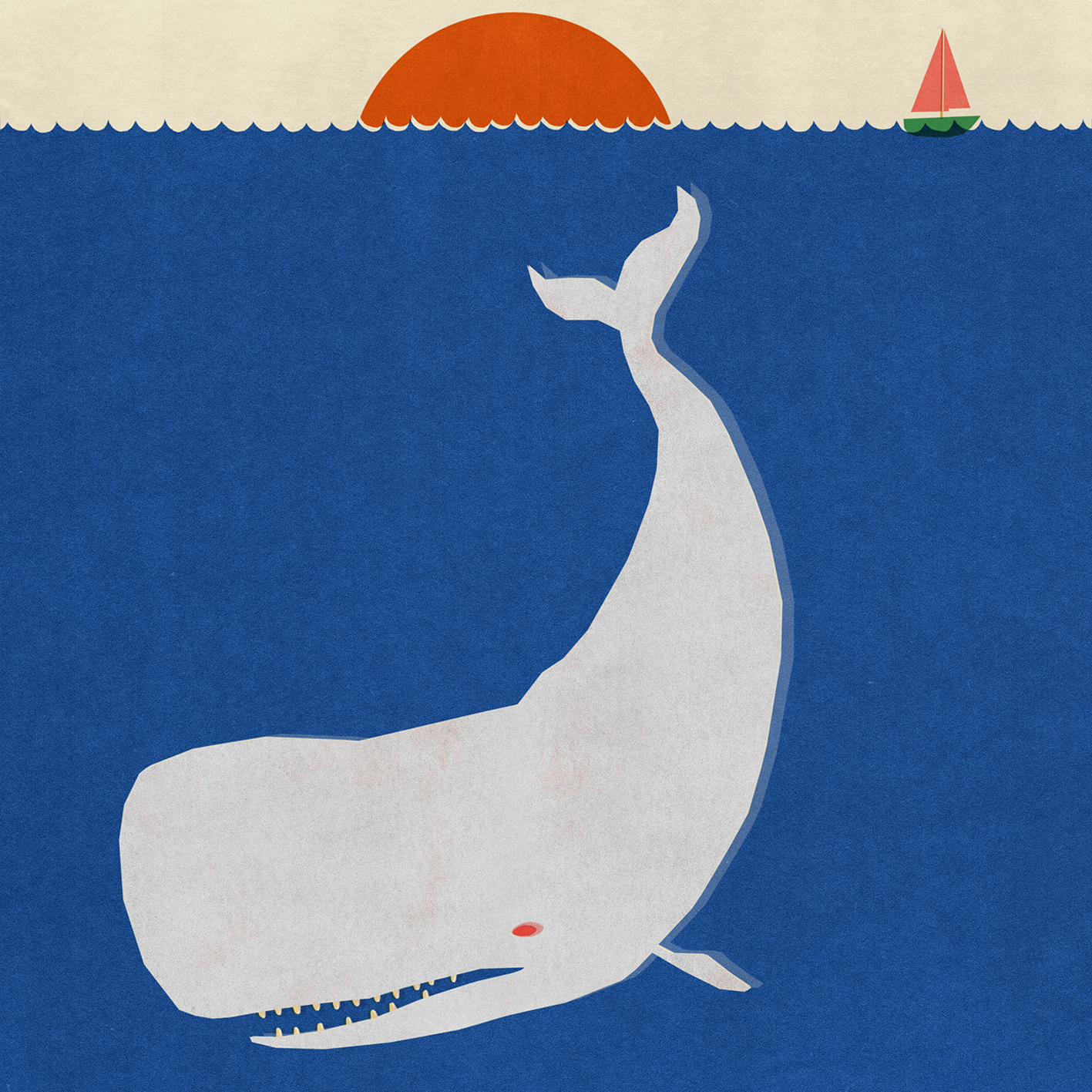 """Image of 420x420 """"LITTLE LEVIATHAN"""" Giclee Print"""