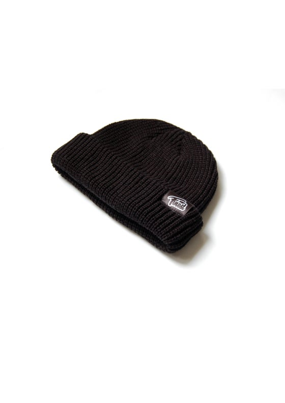 Image of LOGO PATCH FISHER BEANIE BLACK