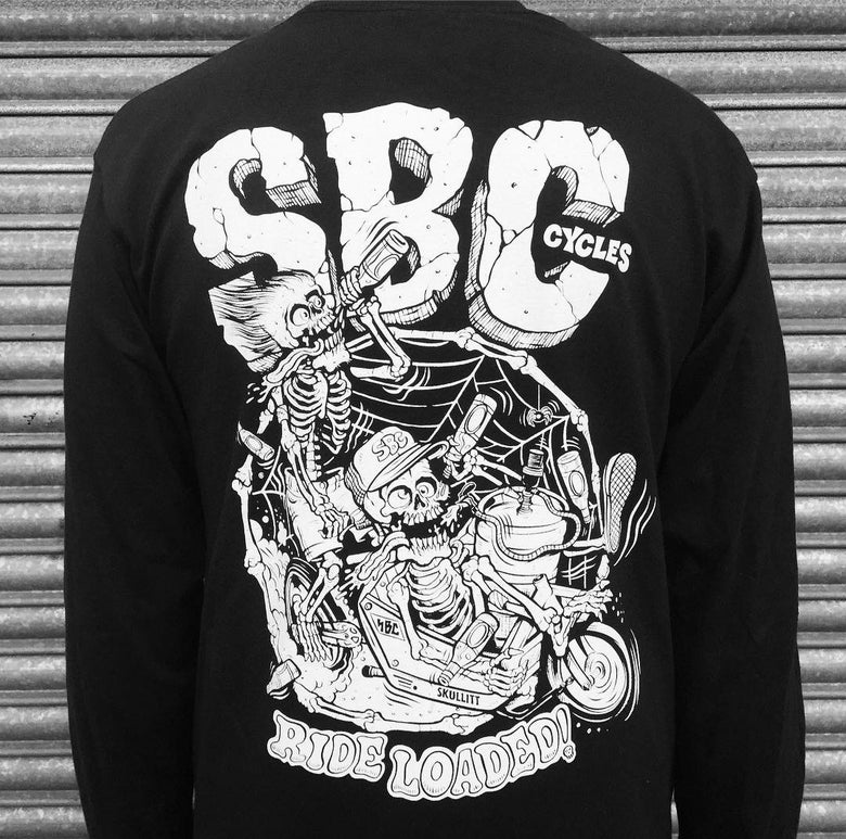Image of SBC x Burrito Breath - Boneheads Black Longsleeve