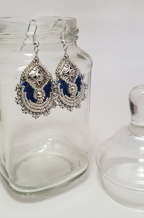 "Image of Boucles d'oreilles METEORE ""silver"""