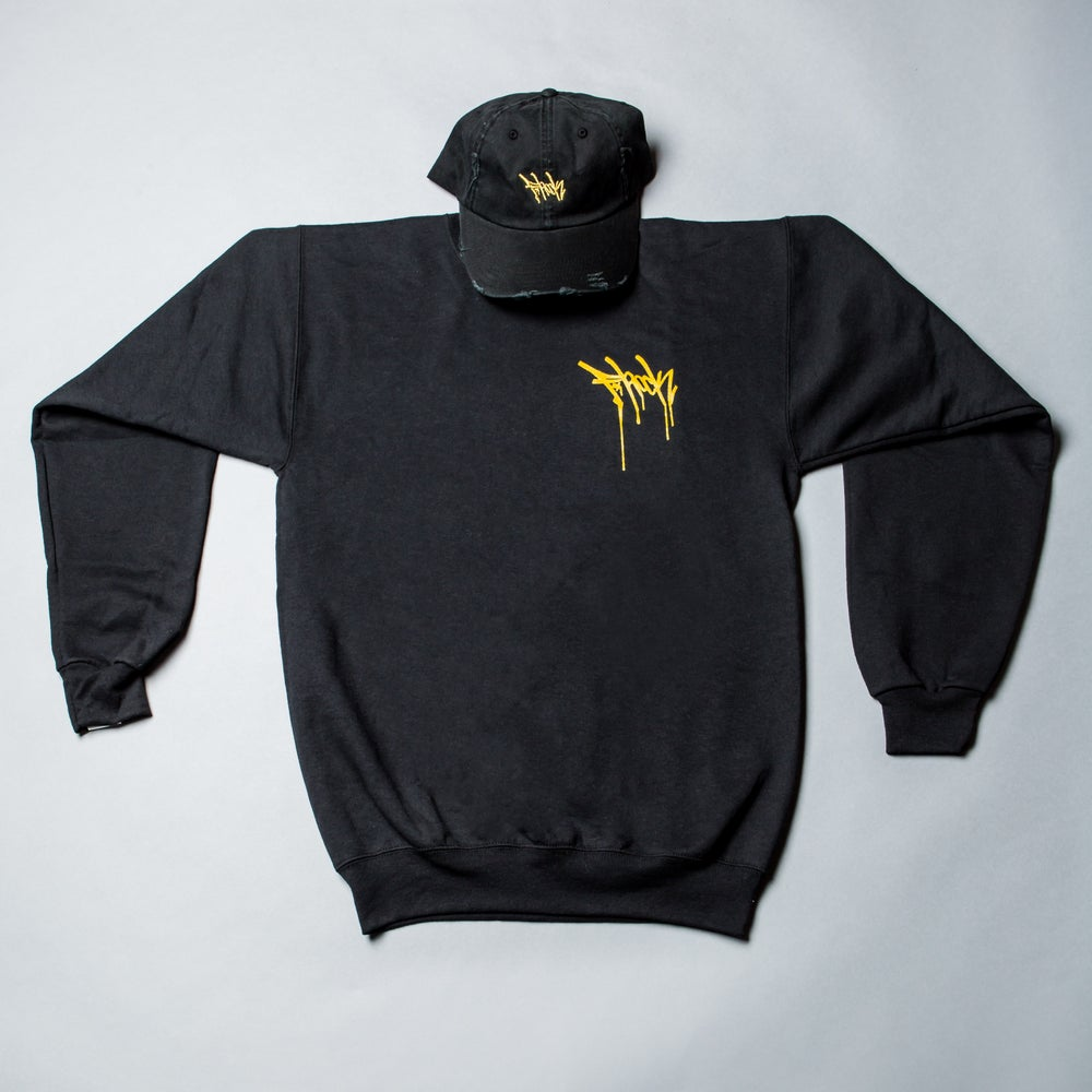 Image of F-Rock Drip Crew Neck - Black/Gold