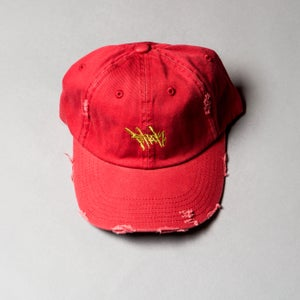 Image of F-Rock Hand Tag Dad Hats (Distressed)