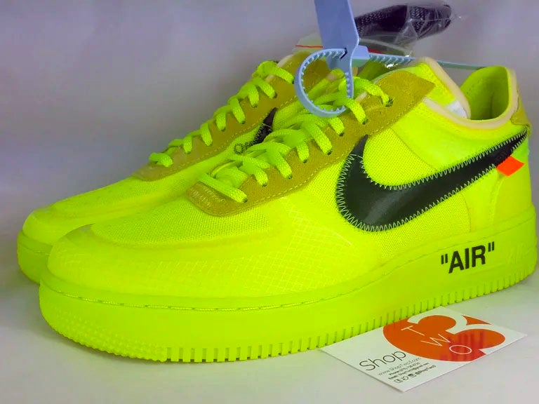 "Image of Off White X Air Force 1 Low ""Volt"""