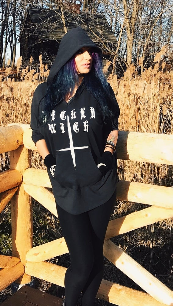 Image of Wicked Witch - French Terry Hooded Poncho