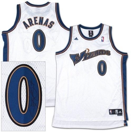 online store da9e9 72ea5 AUTOGRAPHED adidas Washington Wizards Gilbert Arenas Swingman Jersey