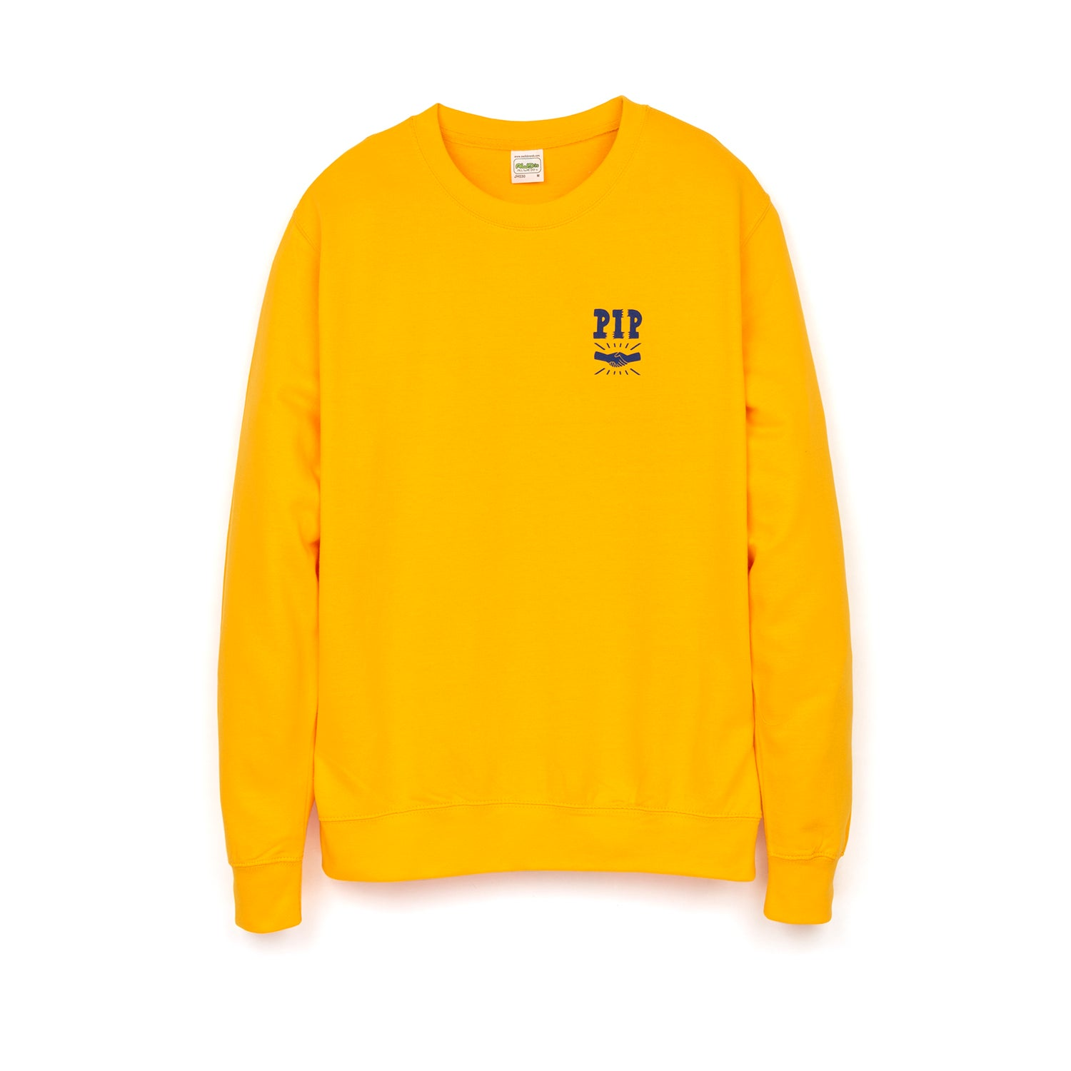 Image of PIP 'LOGO' CREWNECK | YELLOW