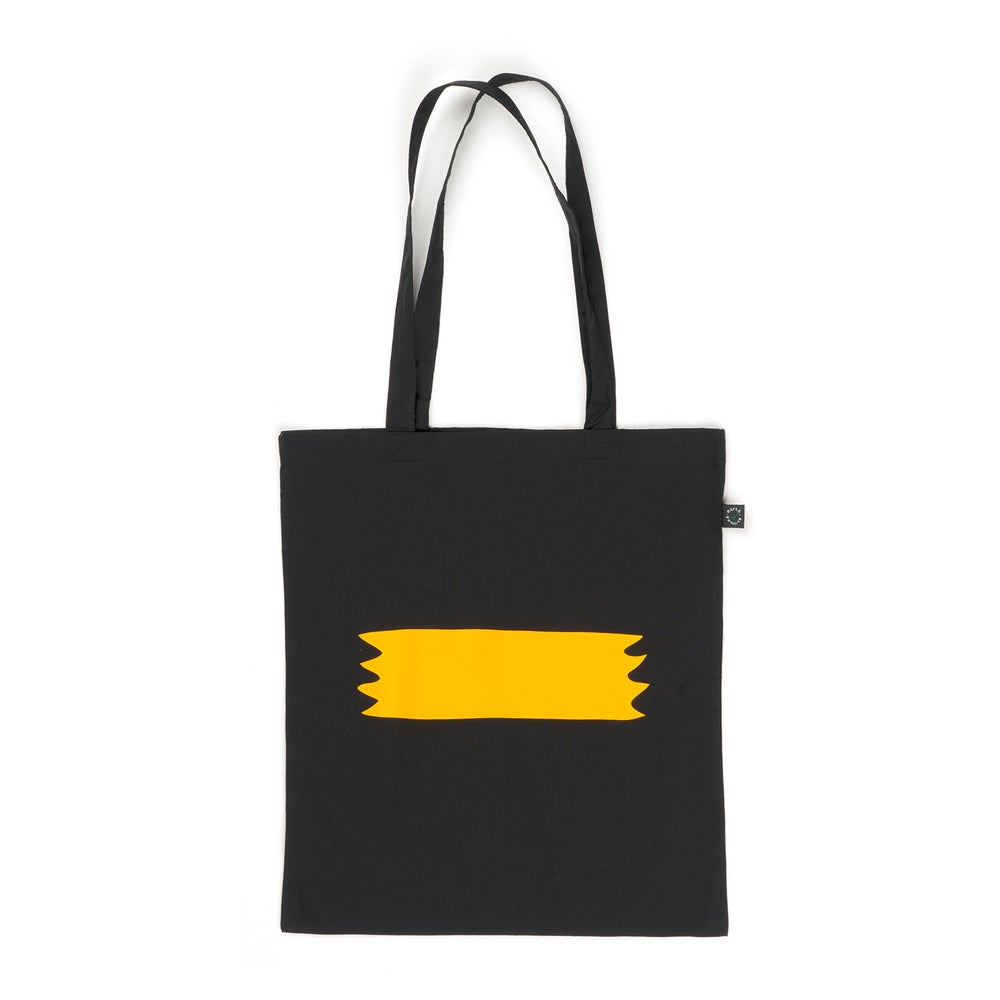 Image of PIP 'BANNER' TOTEBAG | BLACK
