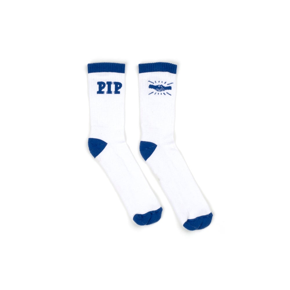 Image of PIP 'LOGO' SOCKS | WHITE
