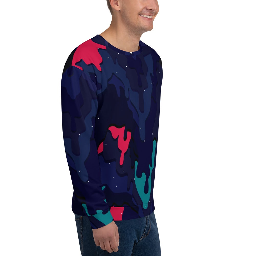"Image of ""Melting Camo"" All over Print Crewneck Sweatshirt"