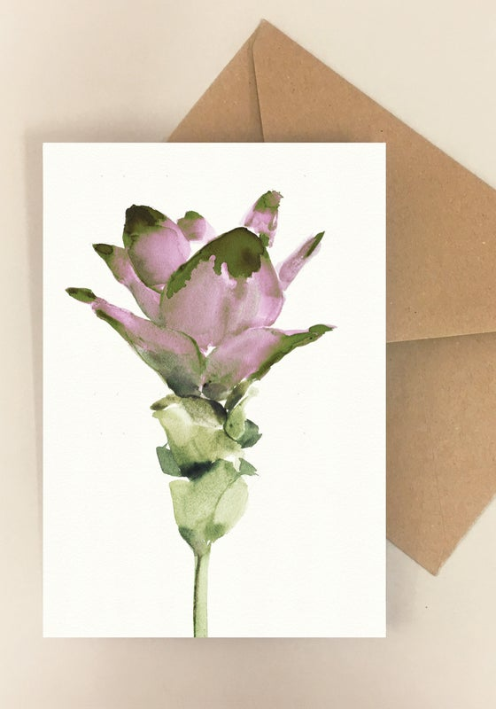 Image of 5 Notecards folded Curcuma No.1008