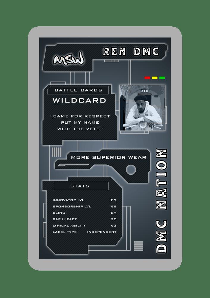 Image of More Superior Wear x Battle Cards Series Tee - Ren DMC