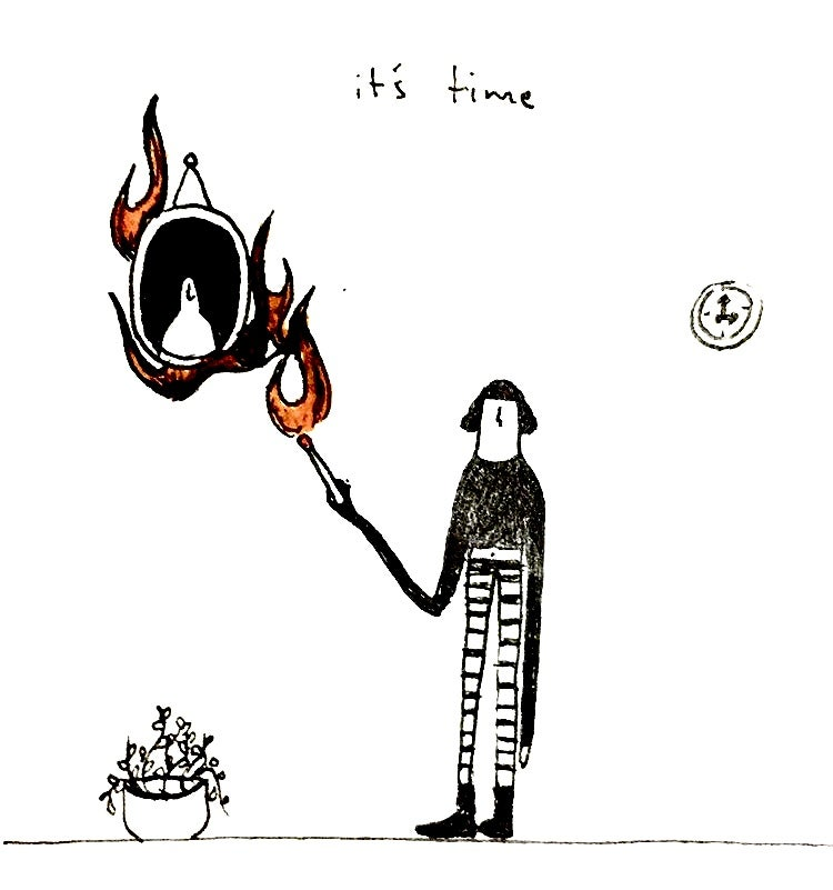 Image of 'its time' print