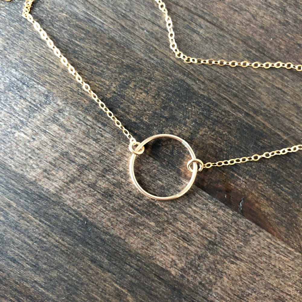 Image of Gold fill circle necklace