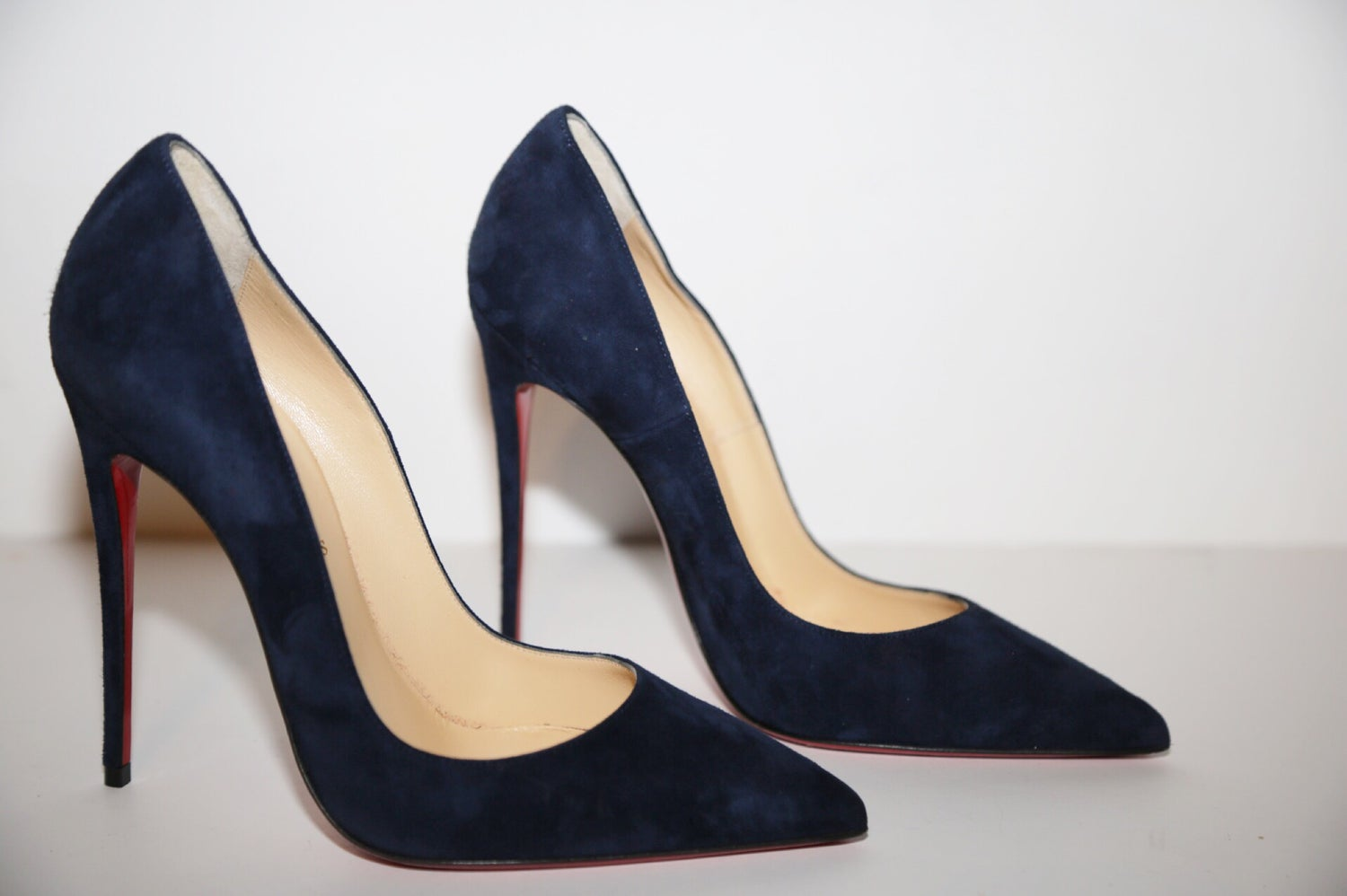 Image of SO KATE SUEDE BLUE PUMP