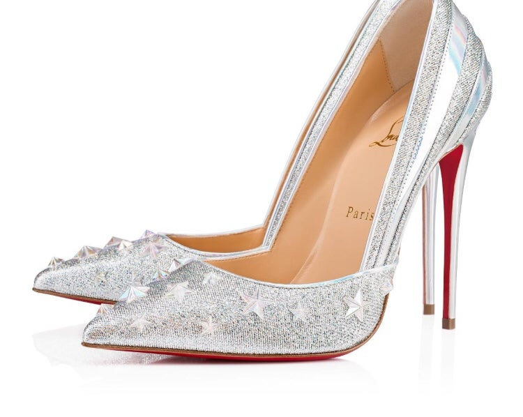 Image of CHRISTIAN LOUBOUTIN SILVER STAR PUMP