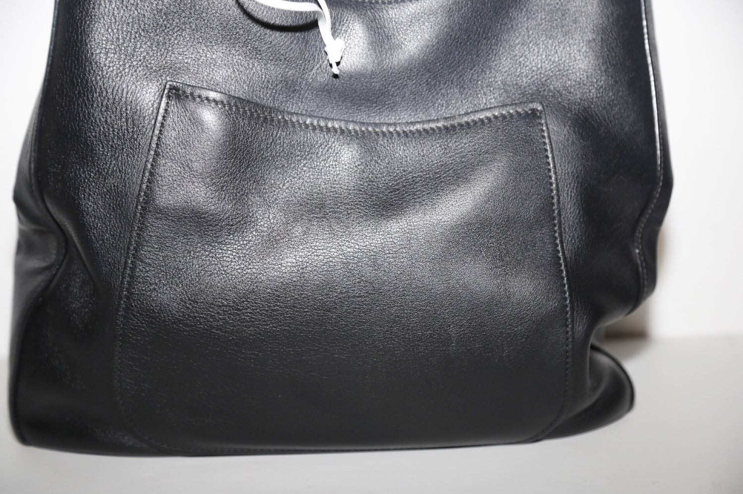 Image of PRADA LEATHER HOBO BAG