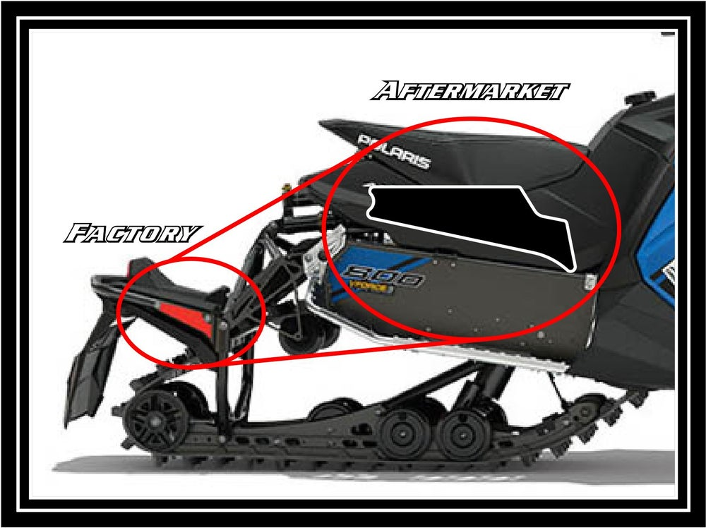 Image of REAR POLARIS BLACK REFLECTORS