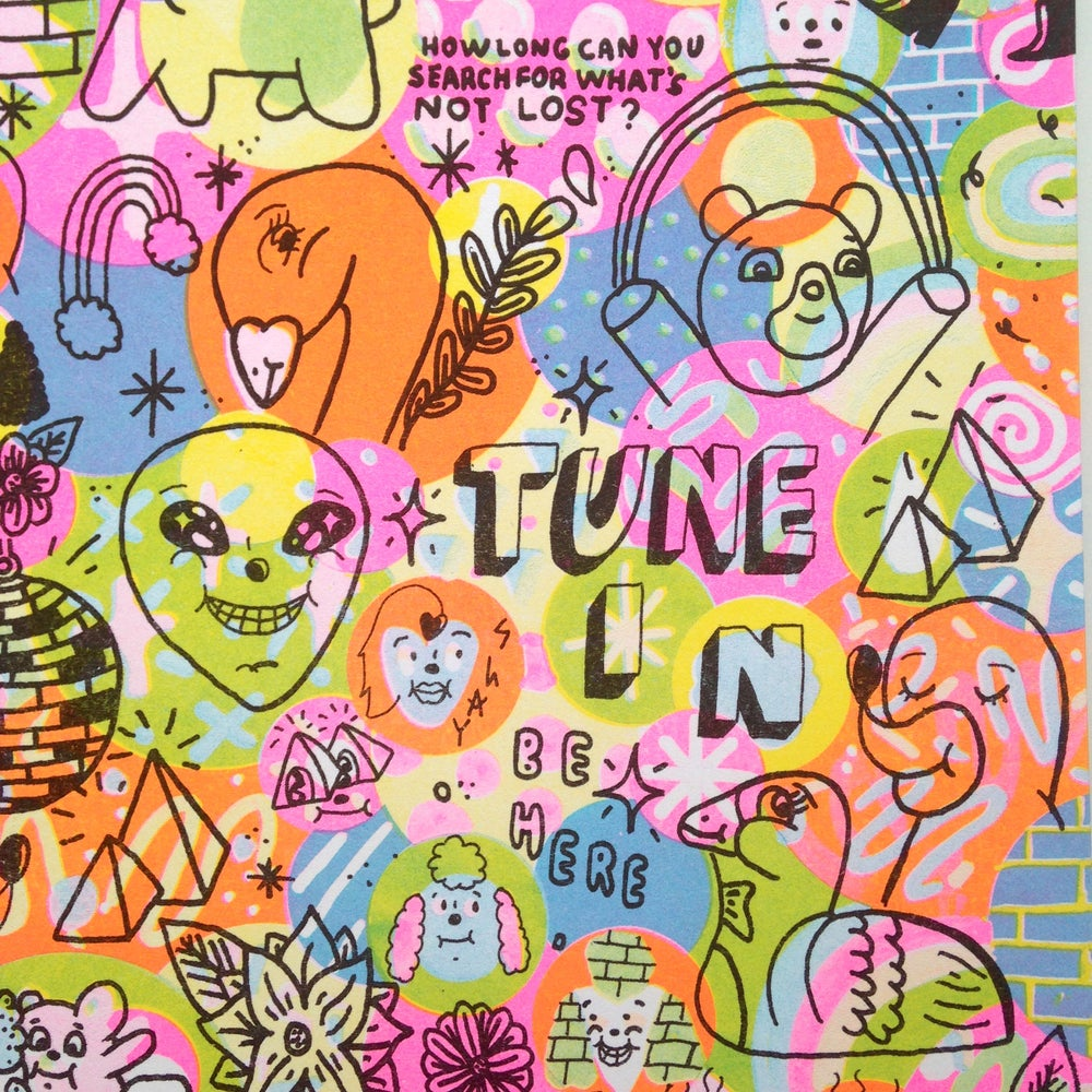 "Image of ""Tune In"" riso print by Pacolli x Tiny Splendor"