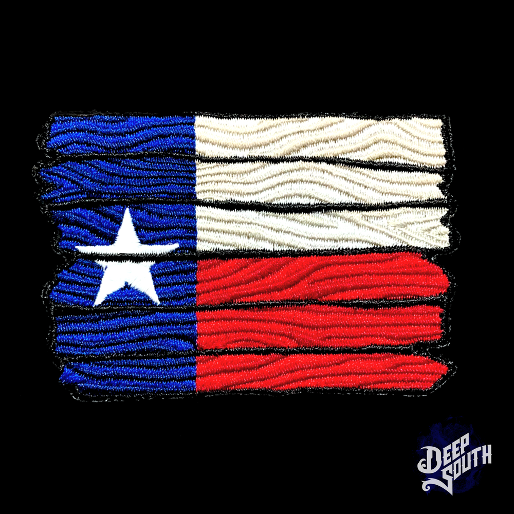 Image of Wooden TX Flag