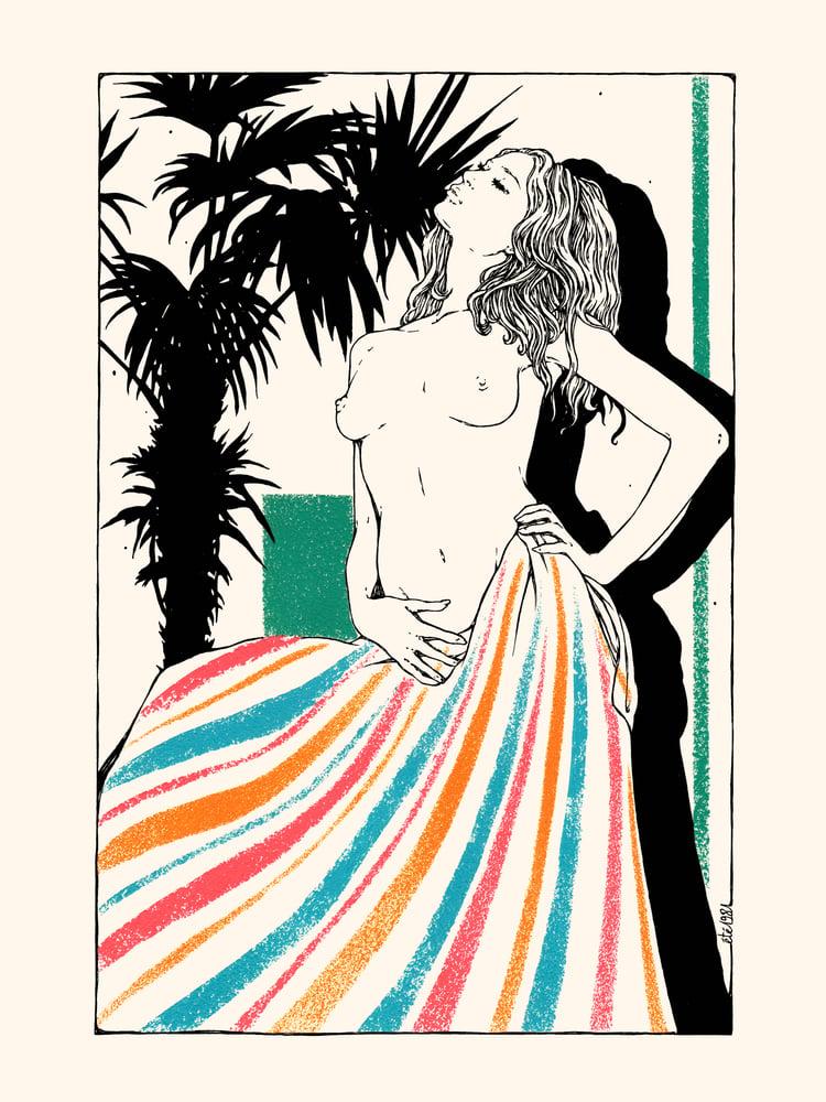 """Image of """" Le Bain de Soleil """" / 30x40 cm"""