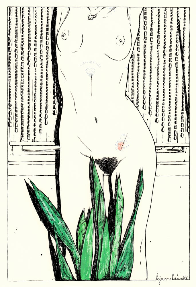 "Image of "" Le journal d'un été 1 "" / Ink&Gouache Original drawing"